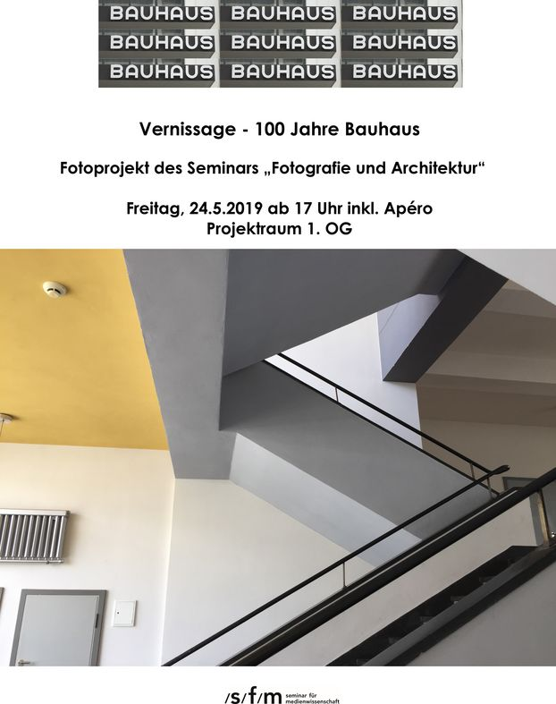 Flyer Bauhaus Vernissage